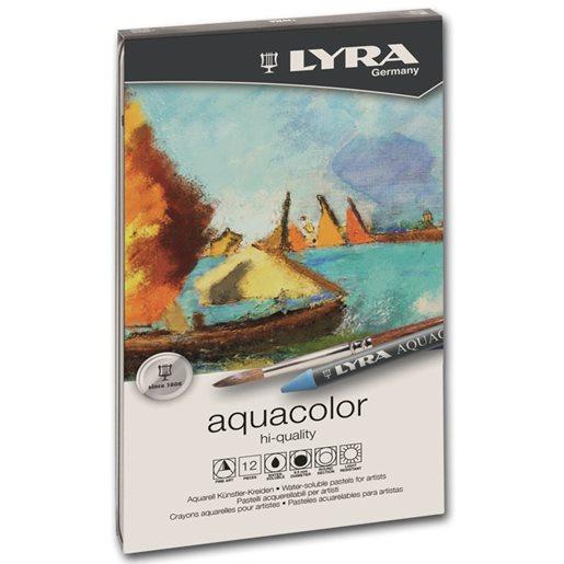 Lyra Akvarellkrita Aquacolor, 12 st