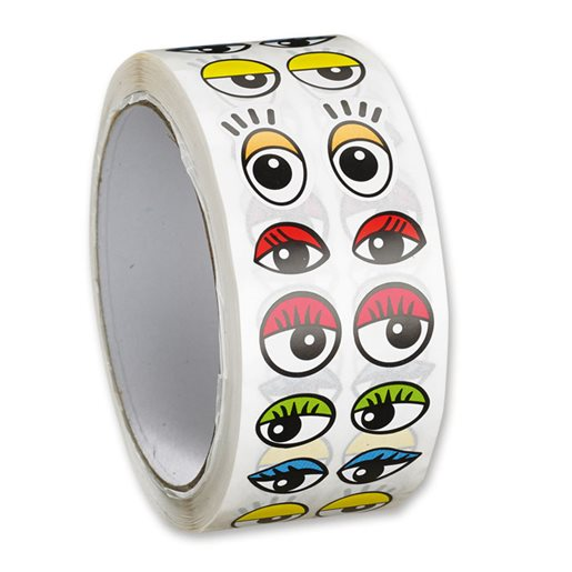 Stickers ögon färgade