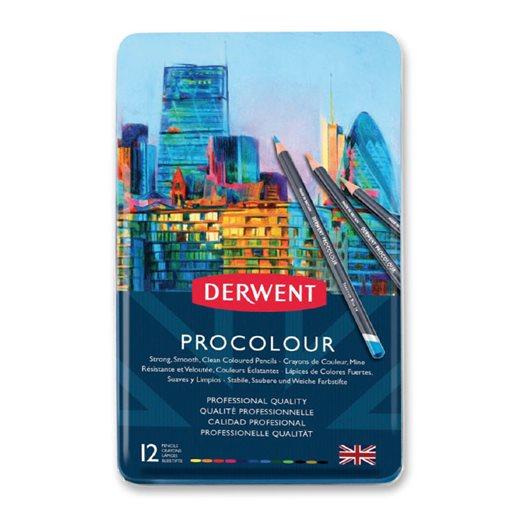 Derwent Procolour färgpenna, 12 st