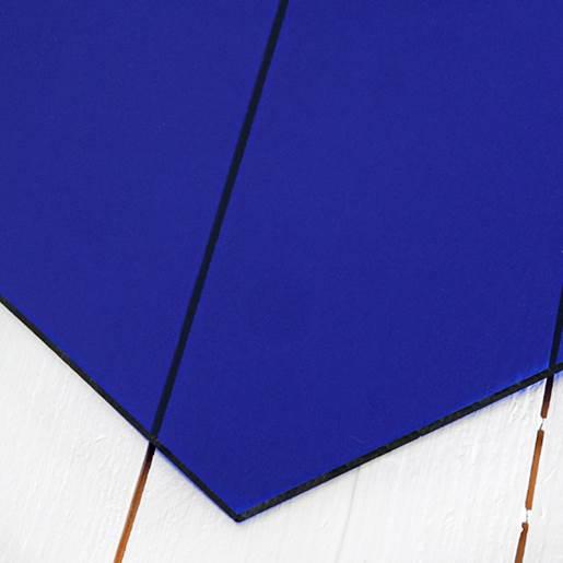 transparant blå