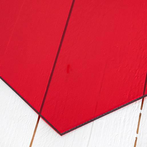 transparant röd
