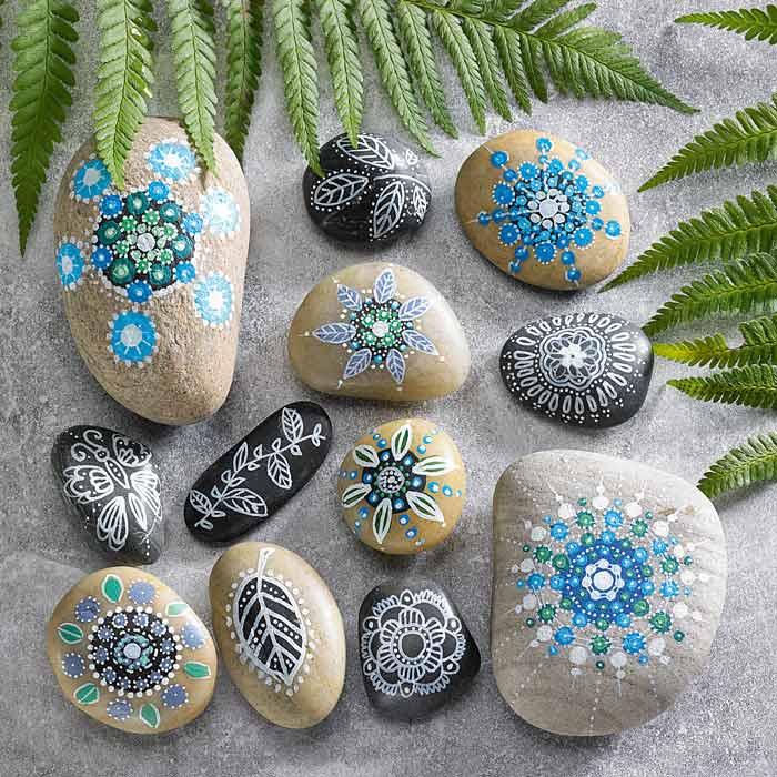 målarfärg till sten