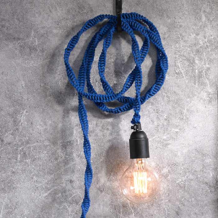 Täck en lampsladd med makramè - Slöjd-Detaljer 1dad5a941792e