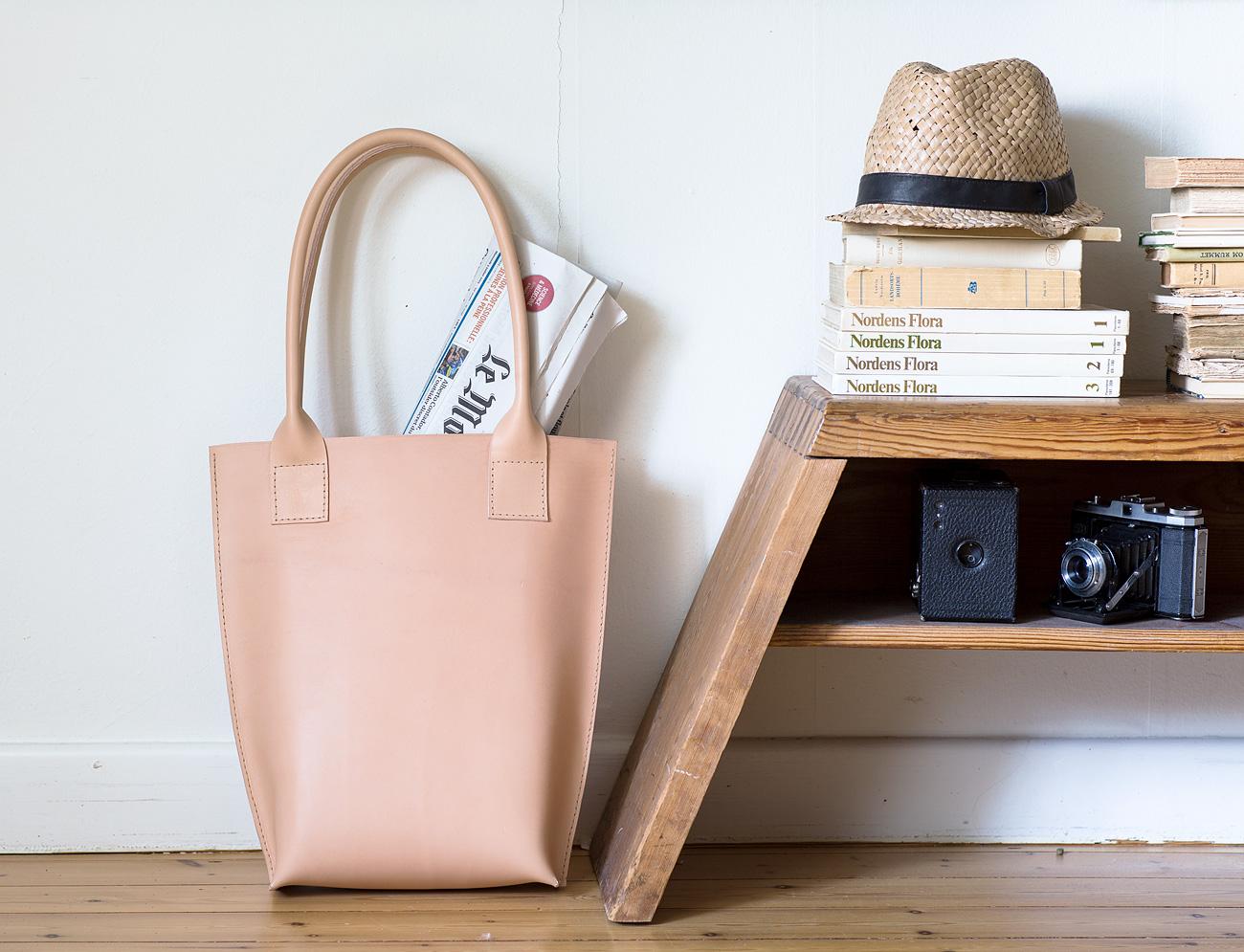Klassisk väska i läder Slöjd Detaljer
